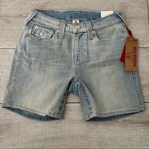 True Religion Denim Shorts Curvy Skinny Waist 26